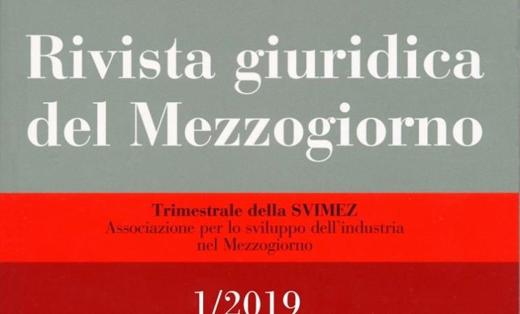 Rivista Giuridica del Mezzogiorno 1/2019