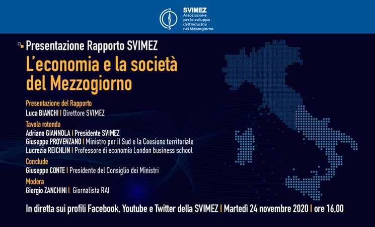 Rapporto SVIMEZ 2020 con Conte