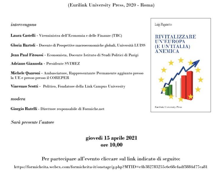 Giannola presenta libro Paganetto