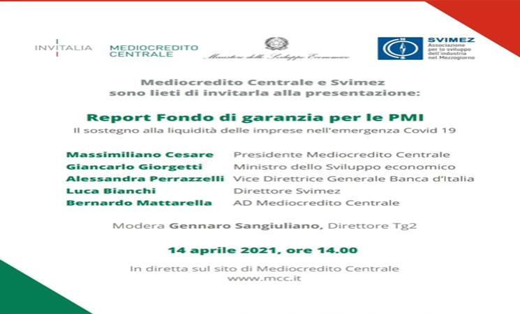 Report SVIMEZ - MCC su Fondo di Garanzia
